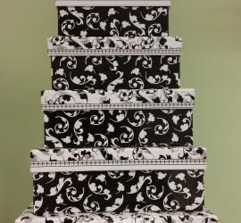 Geschenkschachteln schwarz weiß
