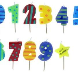 Kerzen Geburtstag Zahlen