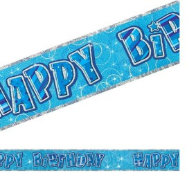 Banner Happy Birthday blau