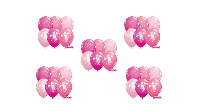 Latexballons rosa Minnie Maus