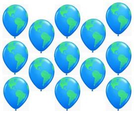 Latexballons Weltkugel