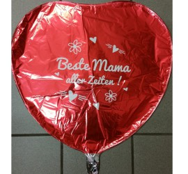 Folienballon rot Beste Mama aller Zeiten
