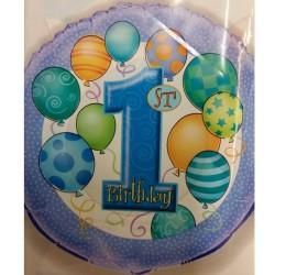 Folienballon Junge erster Geburtstag