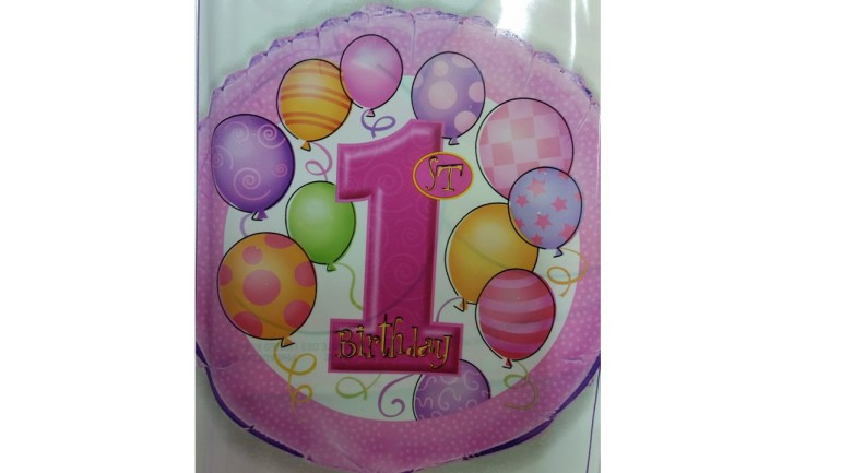 Folienballon erster Geburtstag Mädchen
