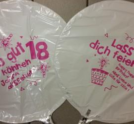 Folienballons weiß pink So gut können 18 Jahre aussehen Lass dich feiern