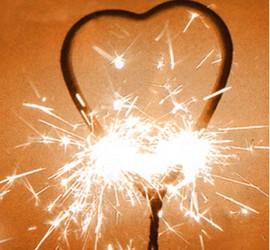 Wunderkerze Herzform