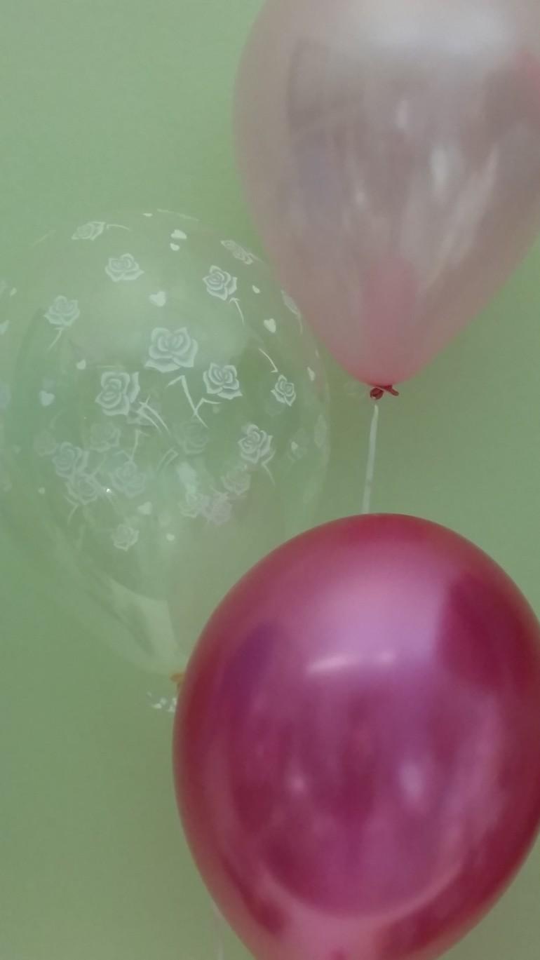 Hochzeitsluftballons rosa und pink