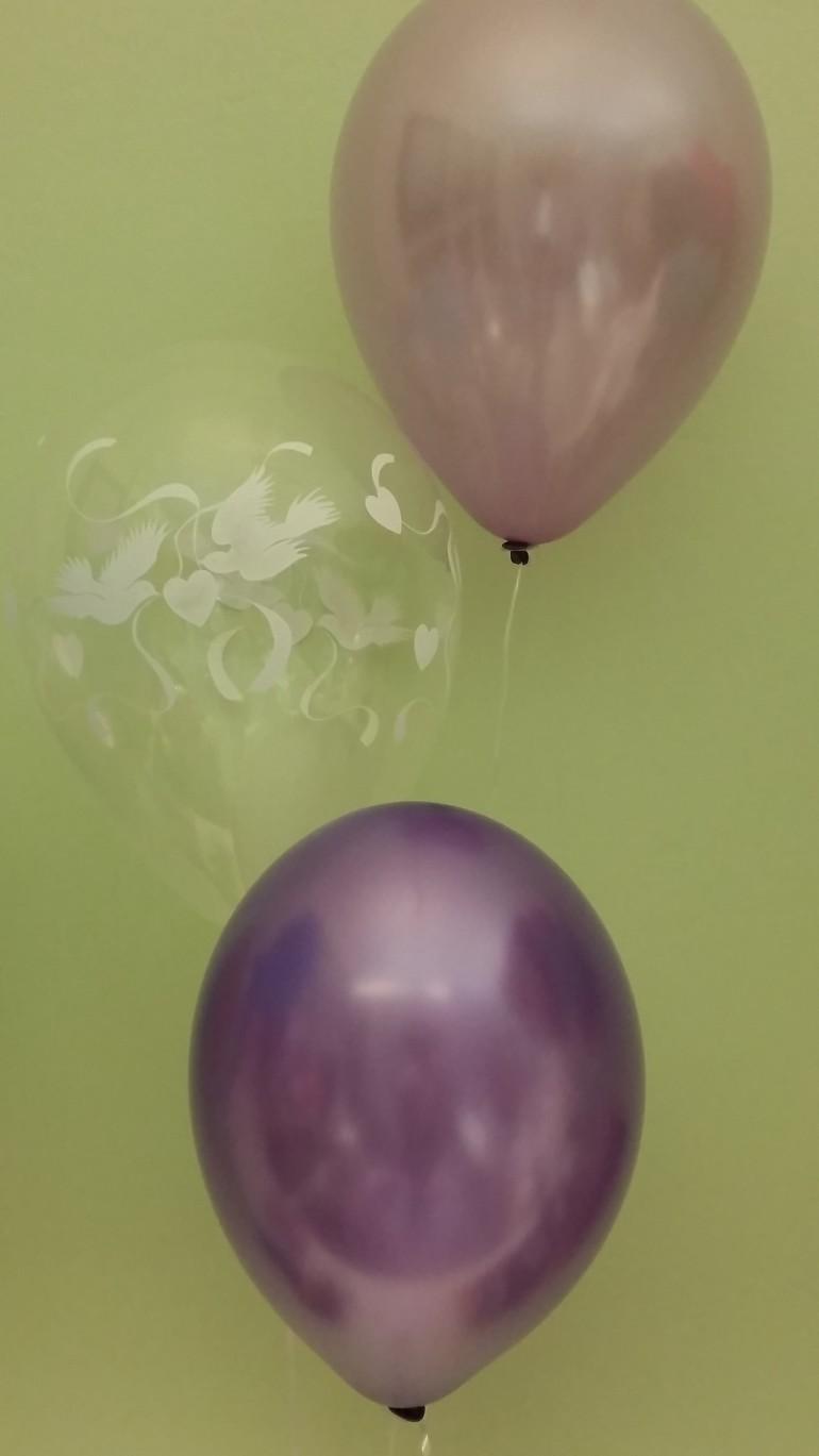 Hochzeitsluftballons flieder und lila