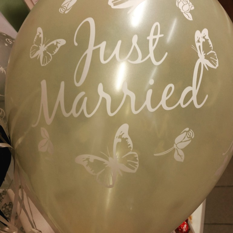 Latexballon Just Married