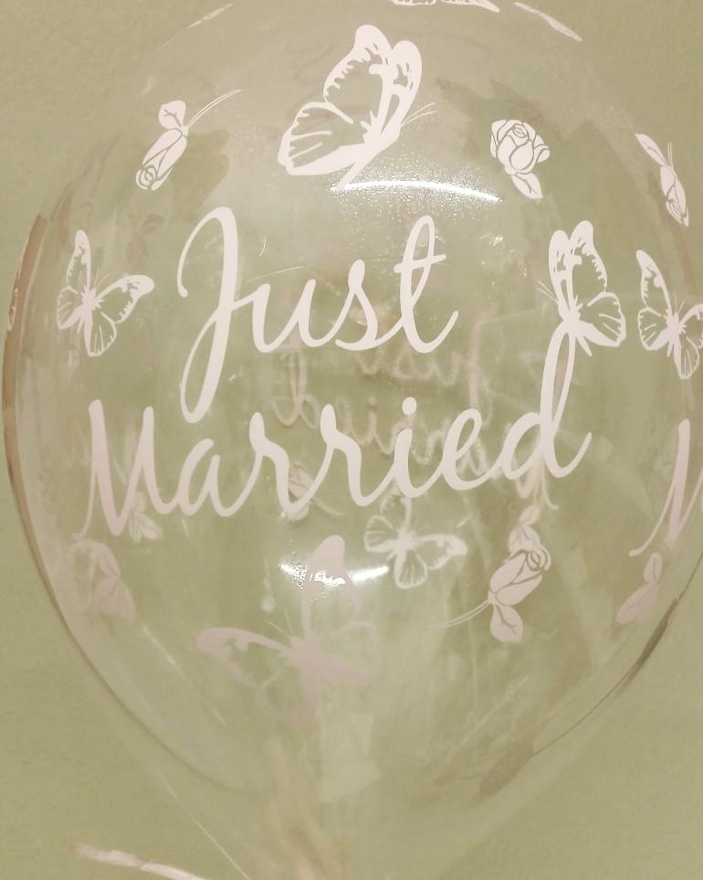 Luftballon Just married