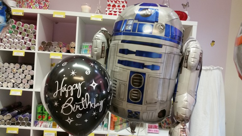Happy Birthday Luftballon und Folienballon R2D2