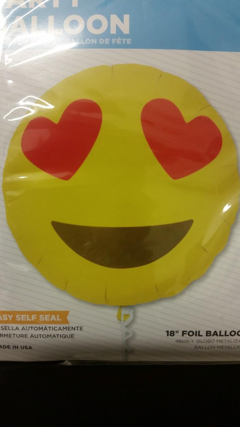 Folienballon Emoji Heart Eyes