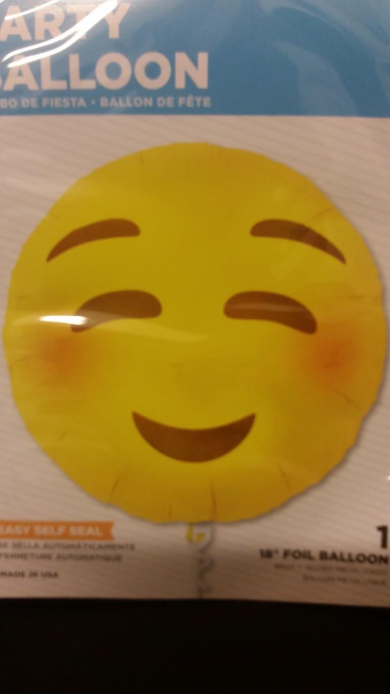 Folienballon Emoji Blushing