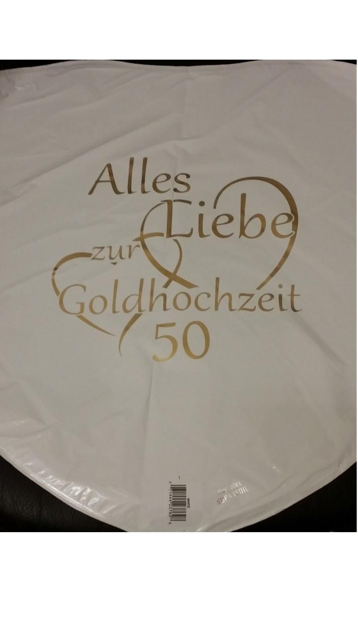 Folienballon Alles Liebe zur Goldhochzeit