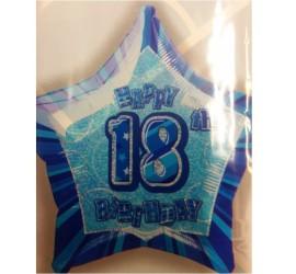 Folienballon blau 18. Geburtstag