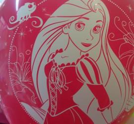Latexballon mit Rapunzel