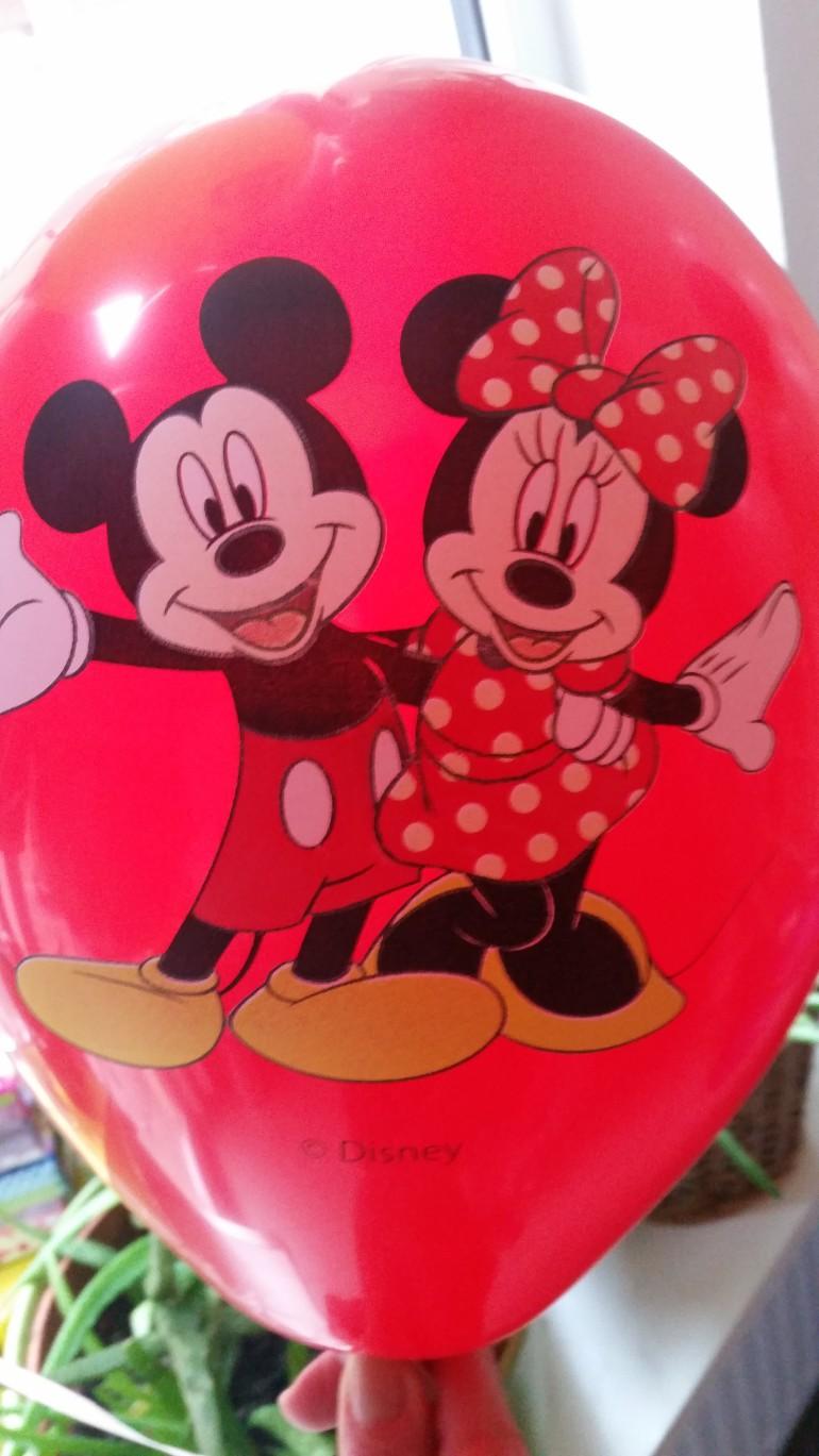 Latexballon mit Mickey und Minnie