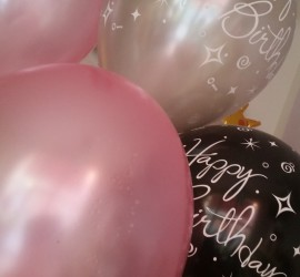 Latexballons Happy Birthday mit Seidenglanz
