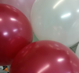 Luftballons mit Seidenglanz