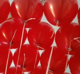 rote Latexballons