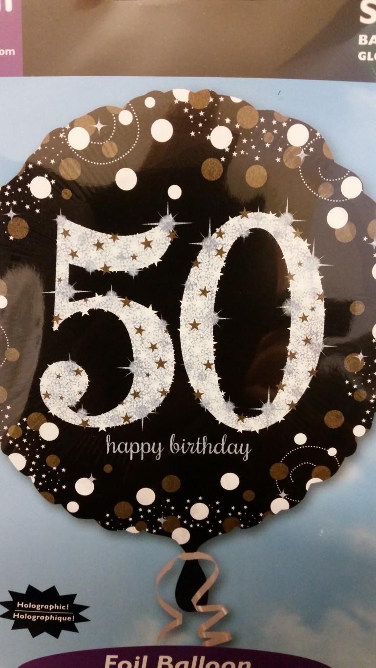 Folienballon Happy Birthday 50