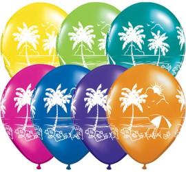 Latexballon mit Palme