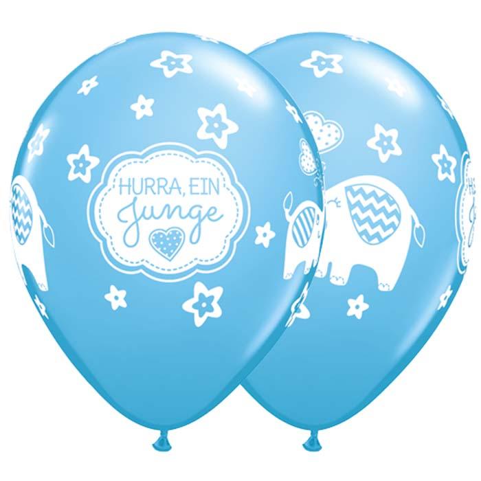 Latexballon Hurra ein Junge