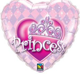 Folienherz Princess