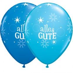 Latexballons Alles Gute in Blautönen