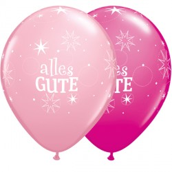 Latexballons Alles Gute in Rosatönen