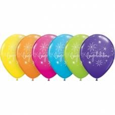 bunte Latexballon Congratulations