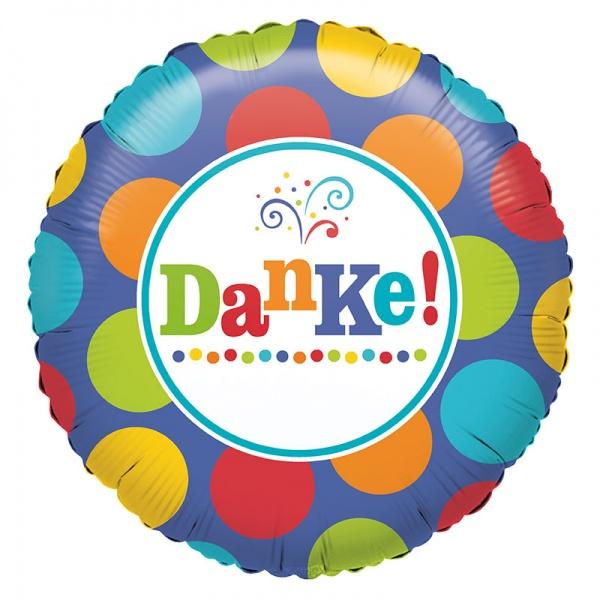 Folienballon rund `Danke!´