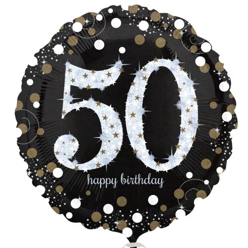 runder Folienballon zum 50. Geburtstag