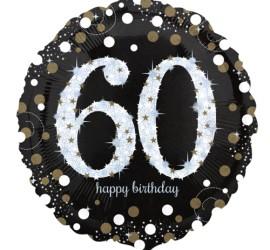runder Folienballon zum 60. Geburtstag