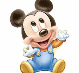 Folienballon Baby-MickeyMouse