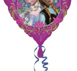 Folienherz frozen mit Anna und Elsa
