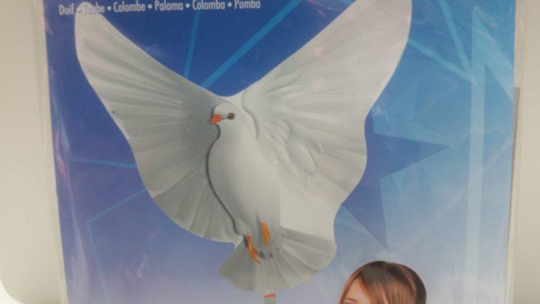 Folienballon weiße Taube