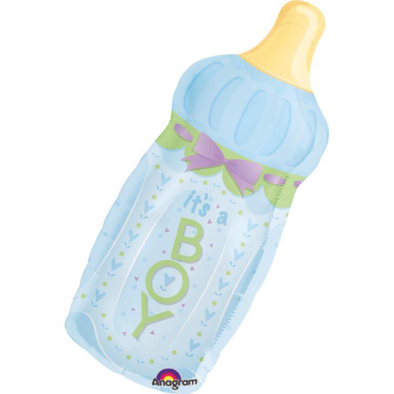 Folienballon Babyfläschchen It´s a BOY