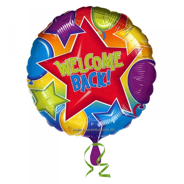 Folienballon Welcome Back!