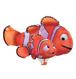 Folienballon Nemo und Papa Marlin