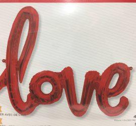 Folienballon Schriftzug love