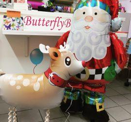 Airwalker Rentier und Weihnachtsmann
