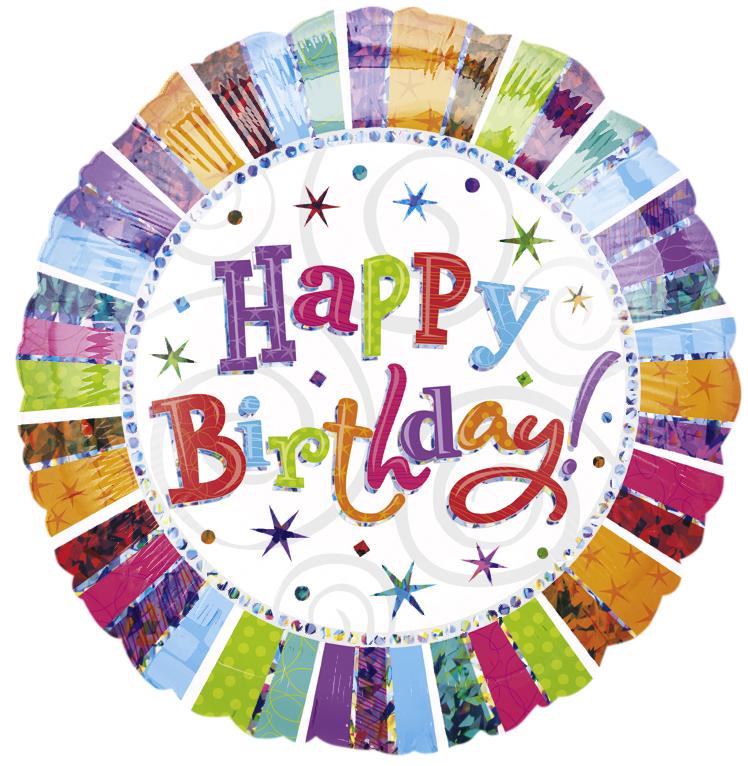 bunter Happy Birthday Ballon
