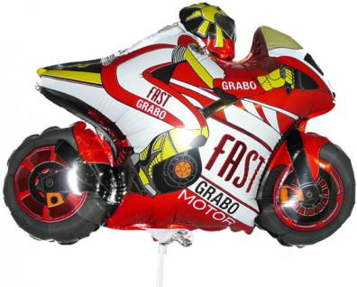 Folienballon rotes Motorrad