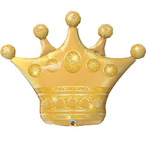 Goldene Krone - Folienballon 104 cm!