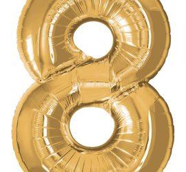 Folienzahlen in gold; 86 cm hoch, 60 cm breit; in den Ziffern 0 bis 9 erhältlich