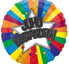 JUHU BESTANDEN - Folienballon 45 cm