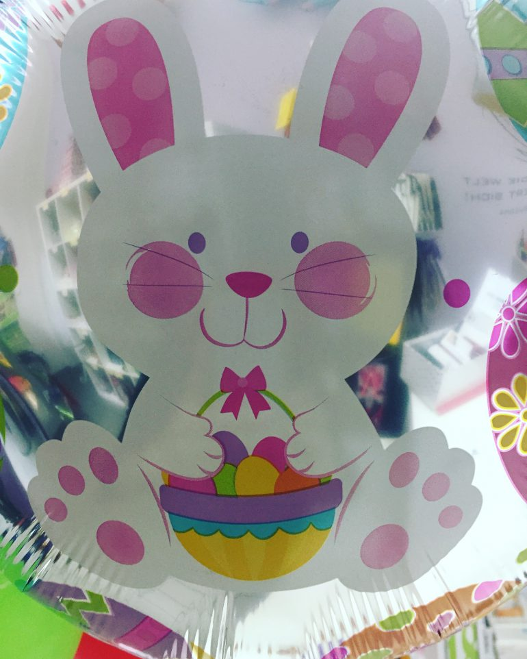 Osterhase auf Folienballon 45 cm