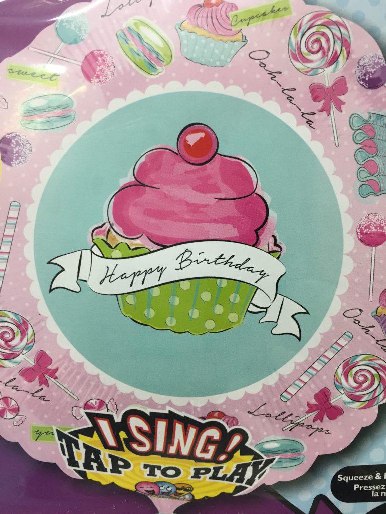 Happy Birthday singender Folienballon