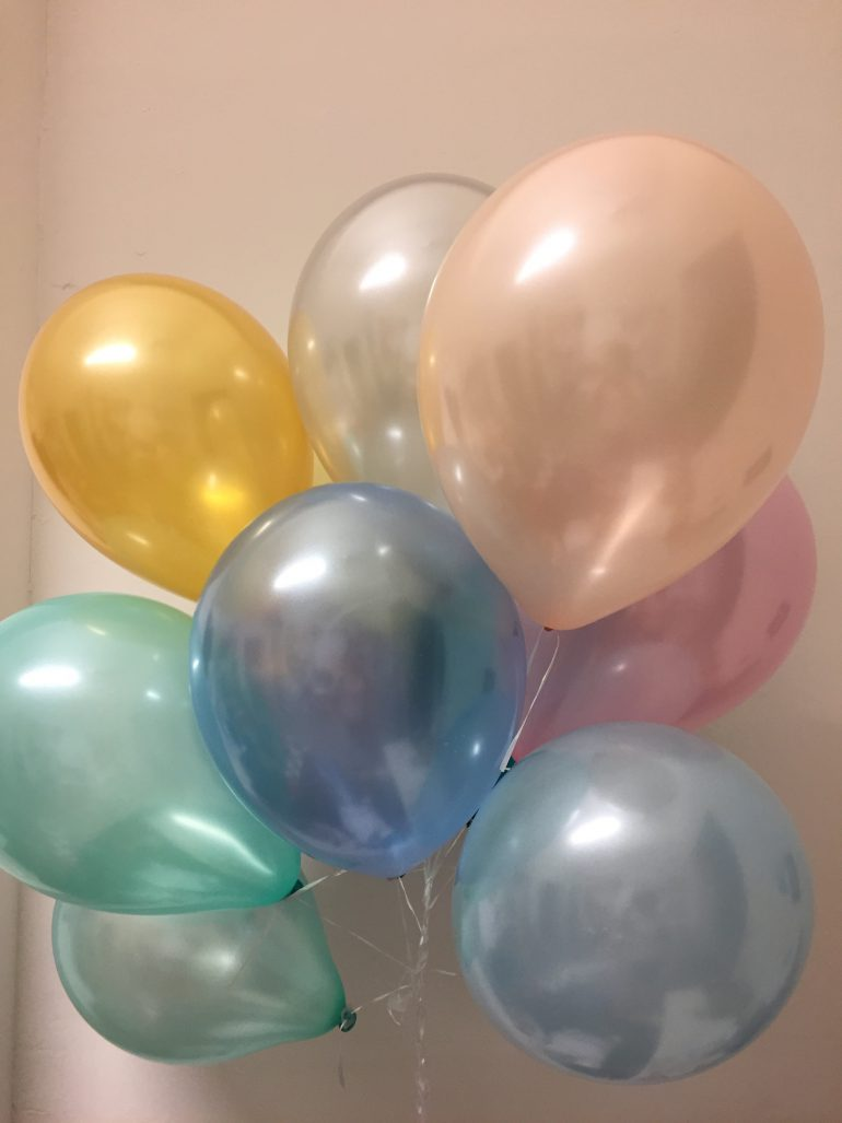 Seidenglanz Luftballons pastellfarben